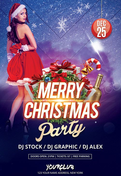 Christmas 2017 Free PSD Flyer Template - http\/\/freepsdflyer - club flyer maker
