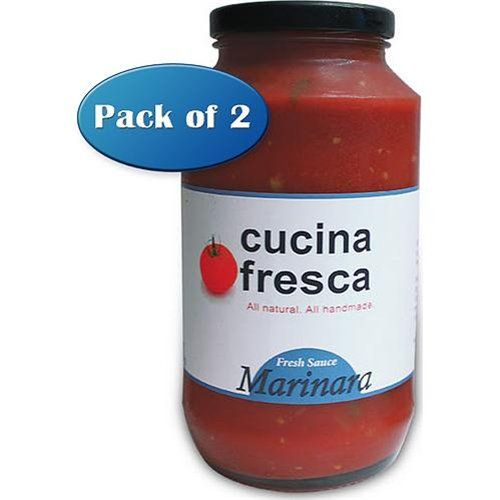 Gourmet Marinara Sauce - Fresh, Natural Pasta Sauce by Cucina Fresca, 24 oz Jar (Pack of 2)