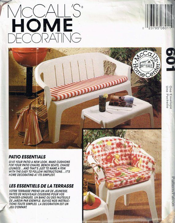 Craft Sewing Pattern Outdoor Furniture Cushions Wicker Chair Cushion Patio