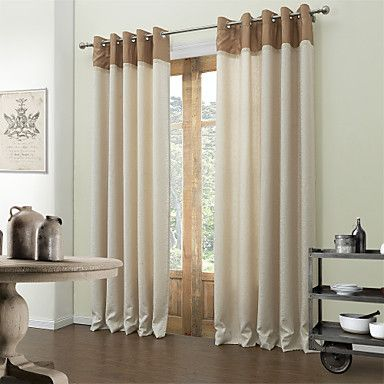 71 24 Curtain Modern Solid Living Room Poly Cotton Blend