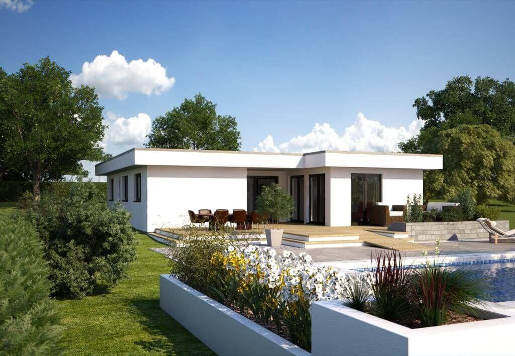 Bungalow Hommage 172 - Hanlo Haus - Modern Bauhaus Fassade Glas