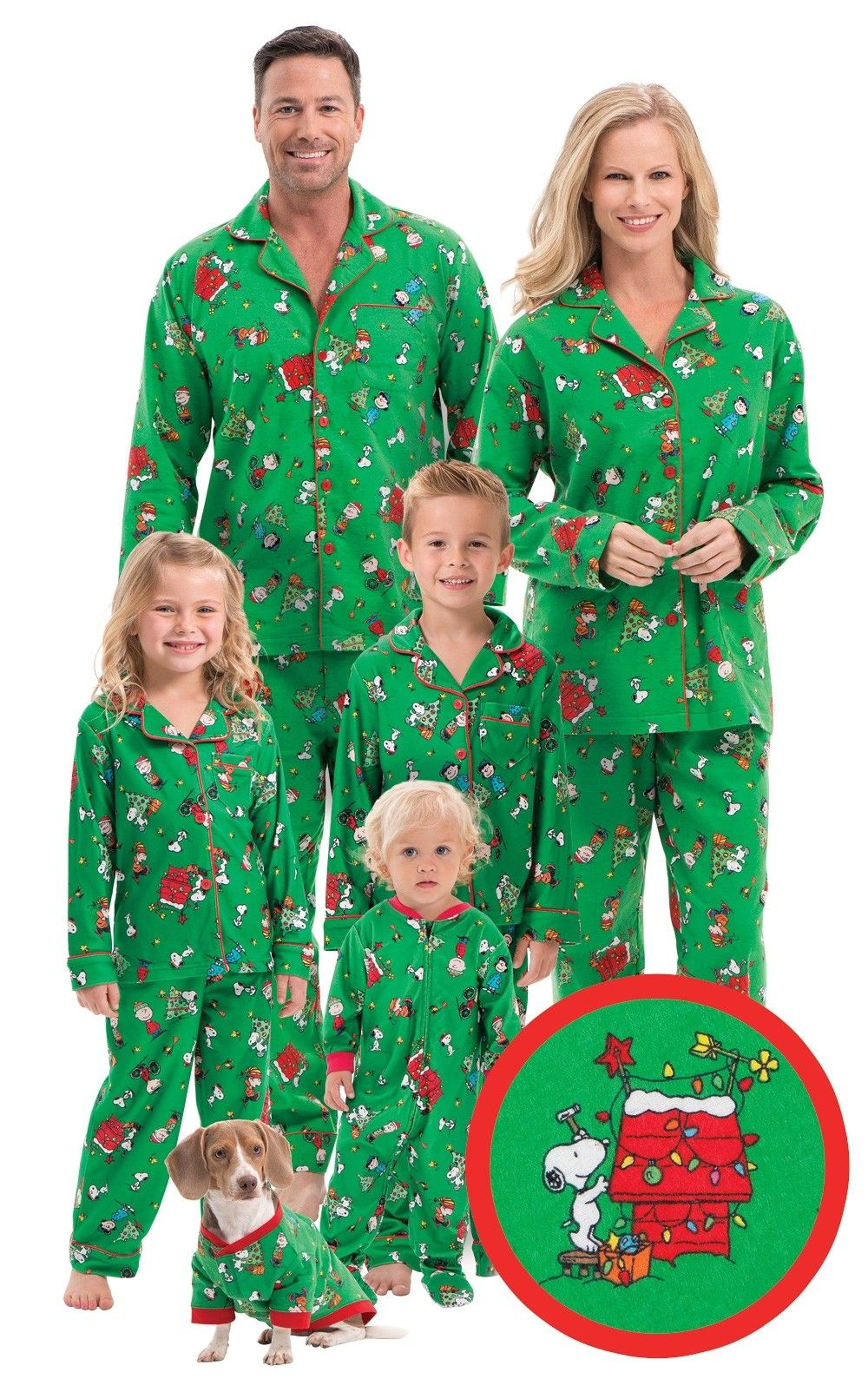 charlie brown christmas matching family pajamas view all matching family sets pajamagram - Snoopy Christmas Pajamas