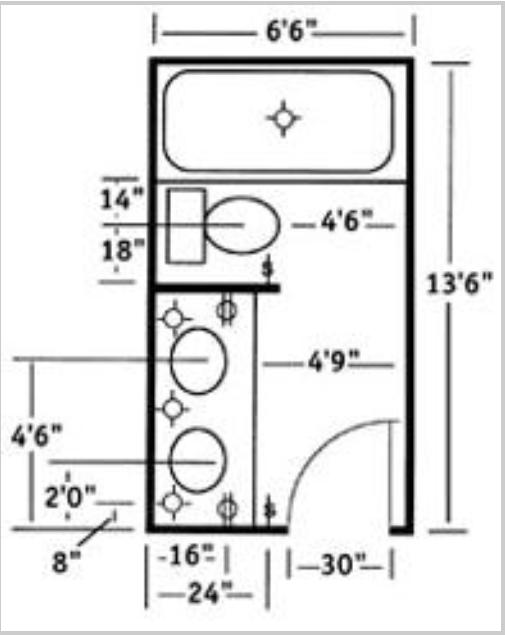 Bathroom Layout in 2019 Bathroom design layout, Bathroom