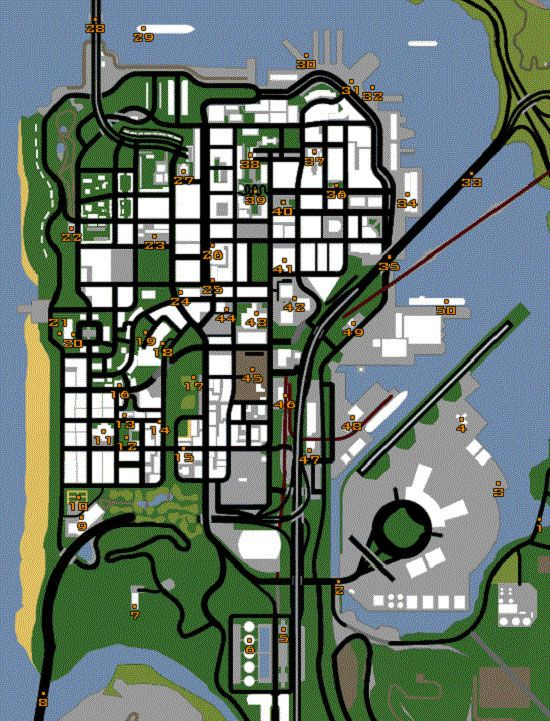 Map Gta San Andreas Pictures San Andreas Gta Grand Theft Auto Games