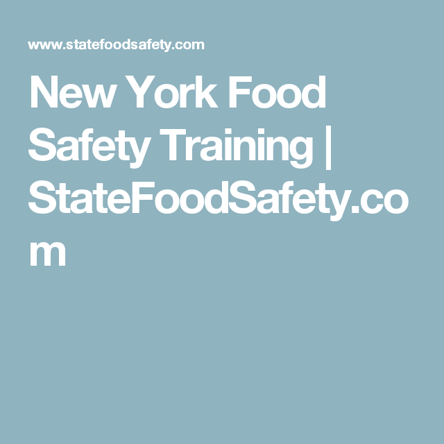 New York State Demonstration of Knowledge Food Safety