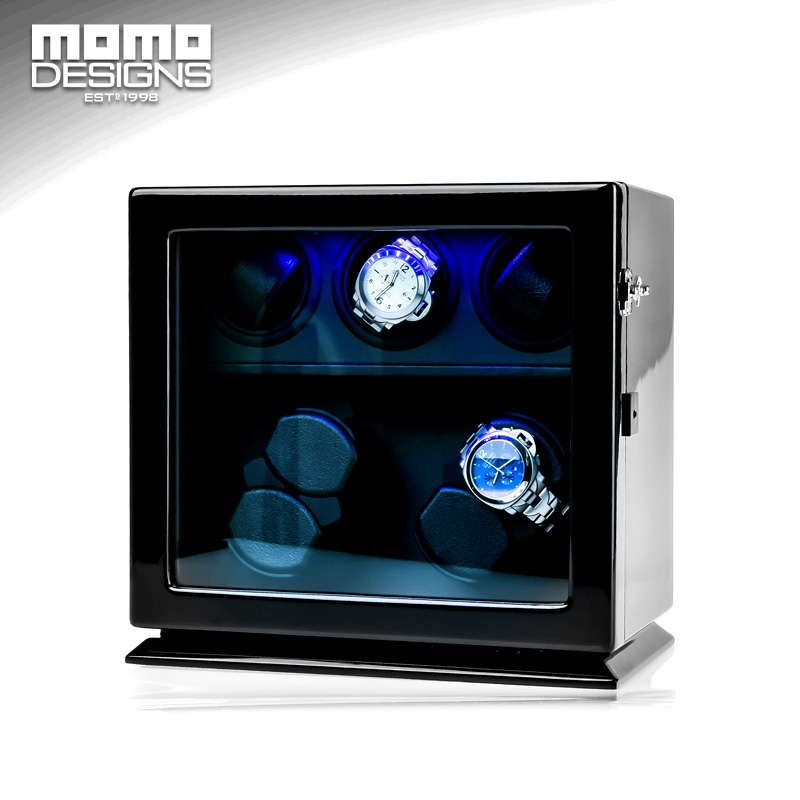 459.00$  Watch now - http://ali41n.worldwells.pw/go.php?t=32791118388 - Wooden Watch Winder 7 Automatic watch chain winder LED light watch storage box JAPAN mabuchi motor