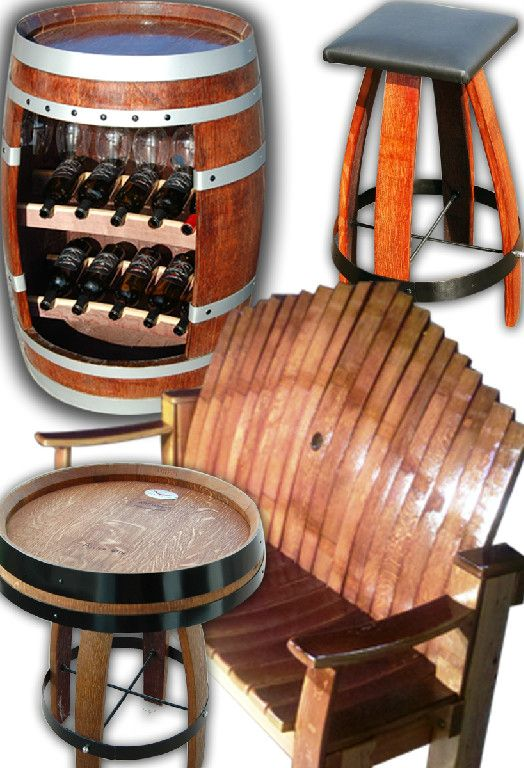 Custom built Walla Walla wine barrel furniture
