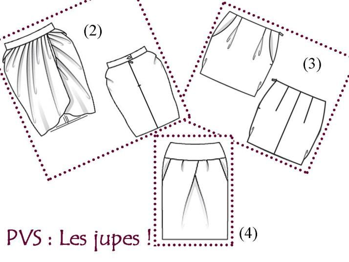 Modèles jupe tulipe | jupes | Pinterest | Patrones de costura ...