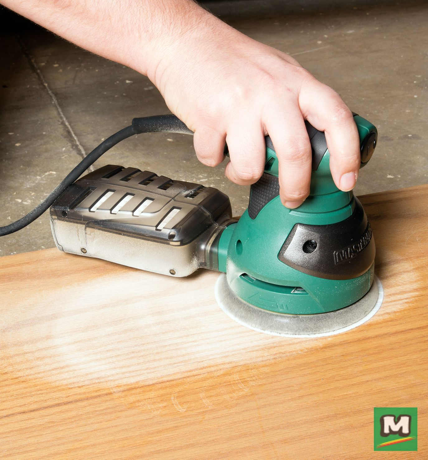The Masterforce 5 Random Orbital Sander Features A Palm Style Handle Allowing For Easy Control Best Random Orbital Sander Power Tool Accessories Woodworking