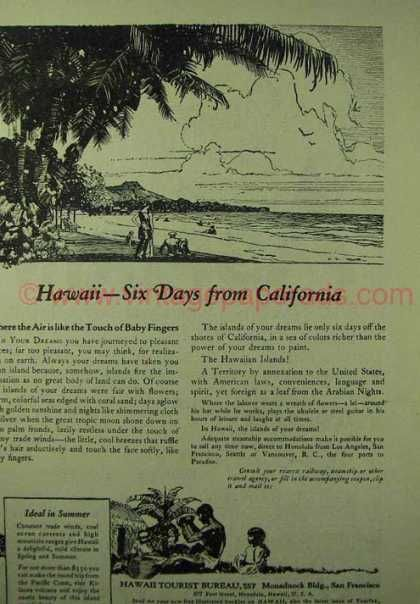 Hawaii Tourism – Six Days From California (1923) | History