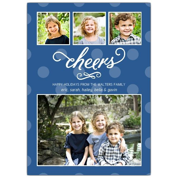 Polka Cheers Holiday Photo Cards   PaperStyle