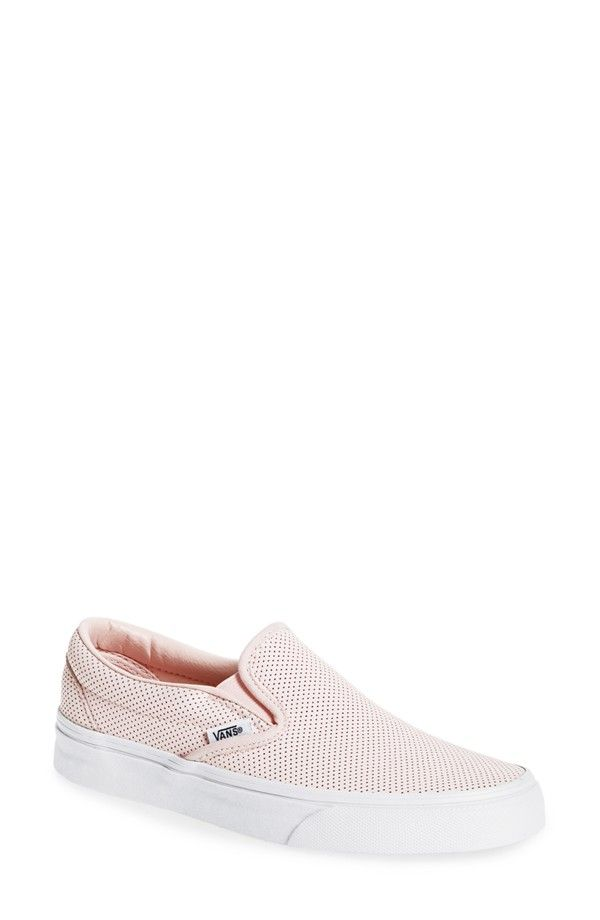d96ce8be05 Vans Classic perforated slip-on in pink leather