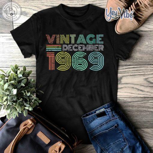 Vintage 1969 Cadeau Anniversaire 50 Ans T-Shirt Premium Femme