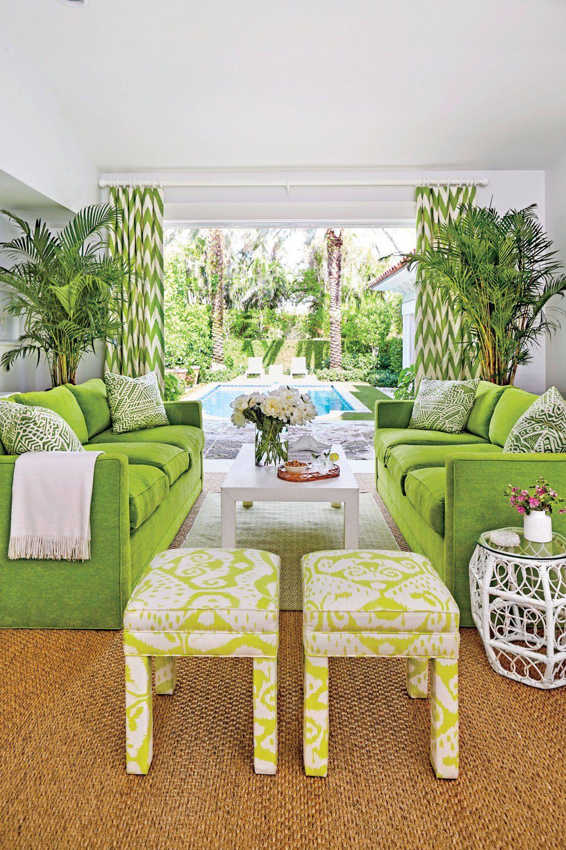 Preppy Florida Beach House Tour Palm Beach Decor Tropical Home