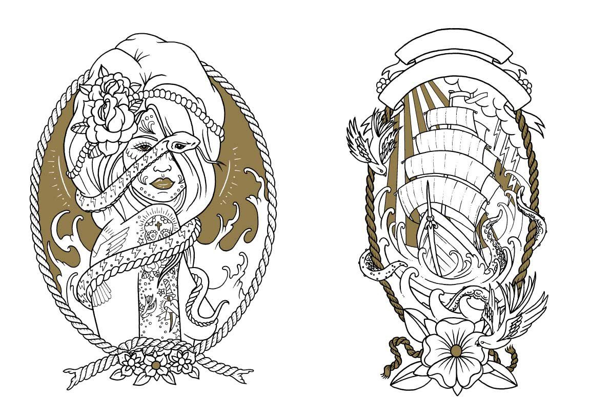 Colouring book on online - Amazon In Buy Tattoo Coloring Book Book Online At Low Prices In India