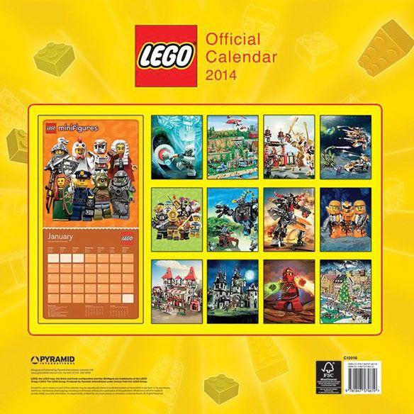 Lego 2014 Wall Calendar | Lego