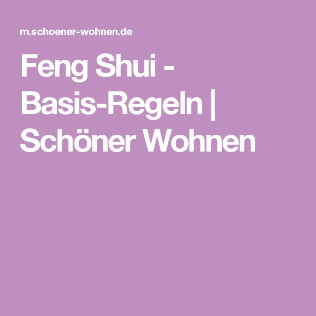 Feng Shui - Basis-Regeln | Schöner Wohnen | Feng shui ...