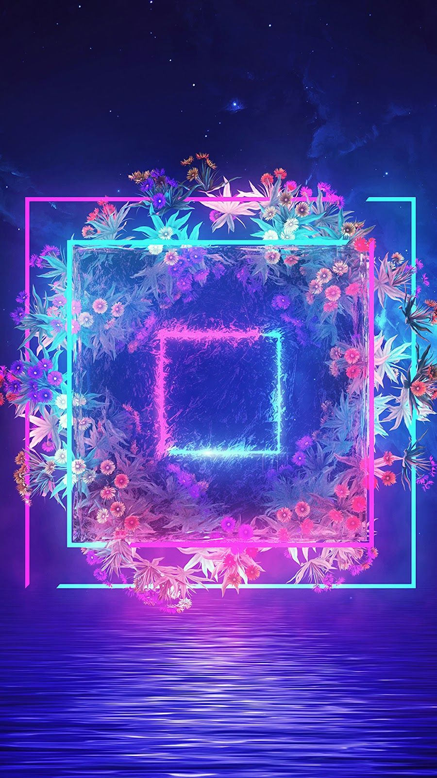 Vaporwave flowers Art & Graphics Vaporwave wallpaper