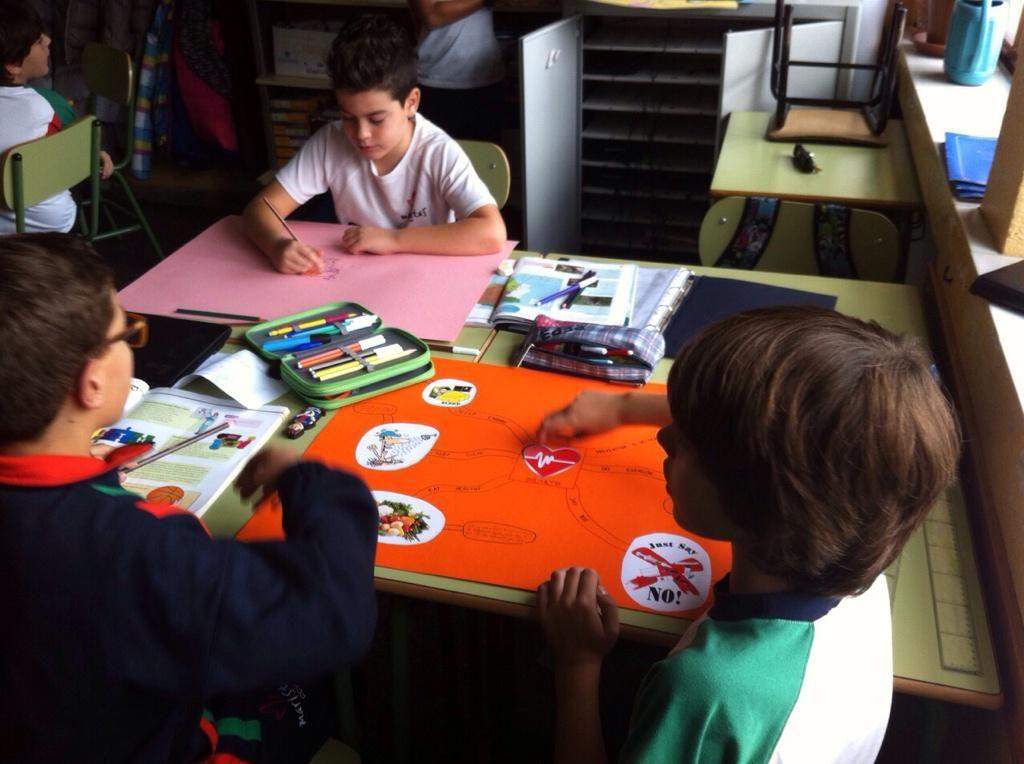 Maristas CCV @MaristasCCV Los alumnos de 5 C han estado trabajando hoy Science project  con mapas mentales #compostelaenruta