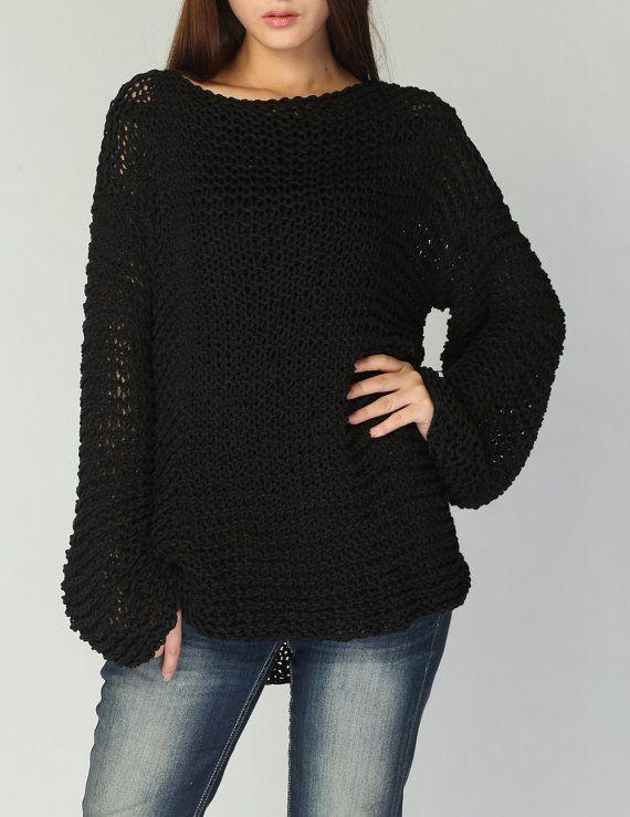 f1cd6112b Simple is the best - Hand knit woman sweater Eco sweater oversized ...