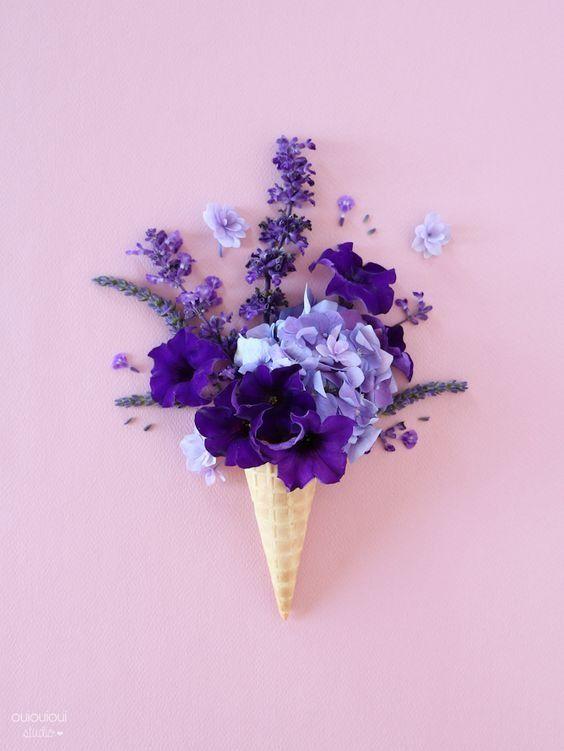 La Saison Des Glaces Mod 232 Le T 233 L 233 Chargeable Floral Fun Purple Aesthetic Flowers