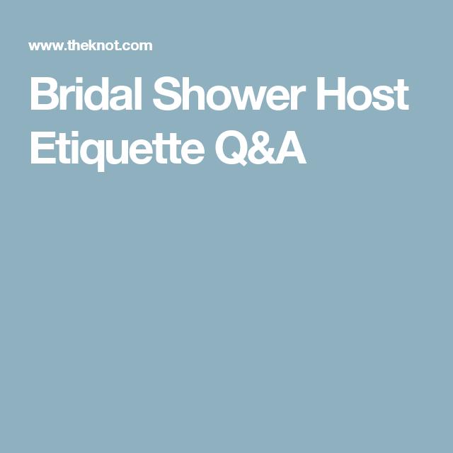 Bridal Shower Host Etiquette QA