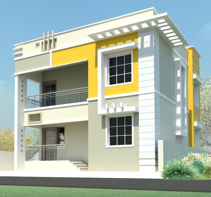 Two Floors House Duplex House Design Independent House House Elevation