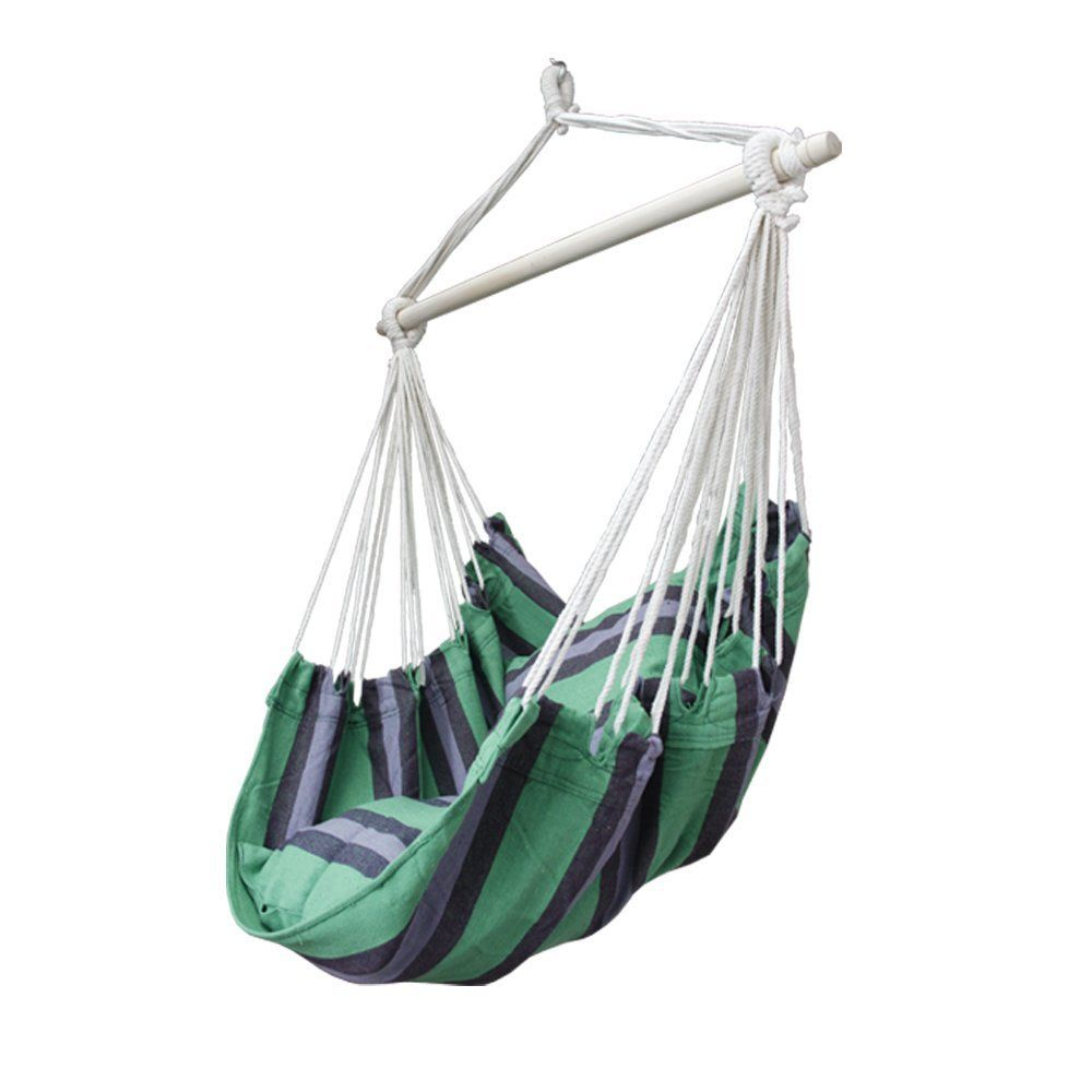 Apricis hanging hammock chair swing with two cushions 34