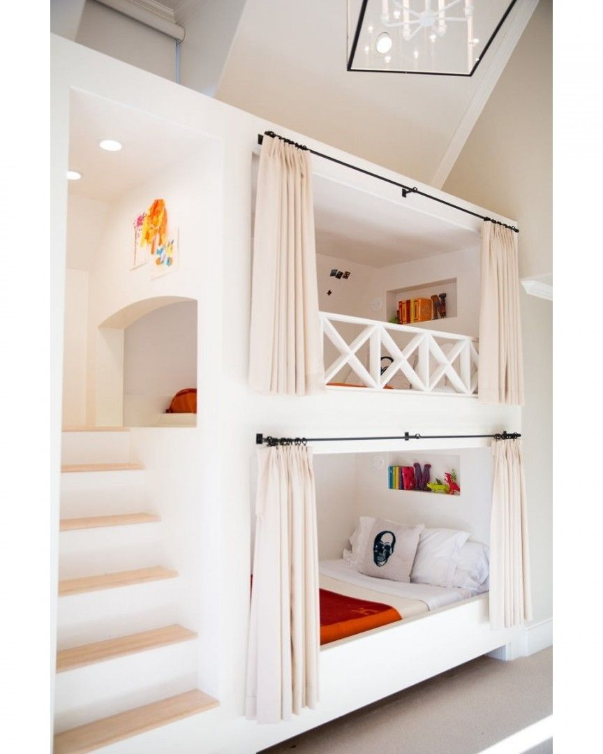 Instagram photo by Ideias Diferentes • May 6, 2016 at 1:02pm UTC | Bunk beds  built in, Bunk bed designs, Bunk beds with stairs