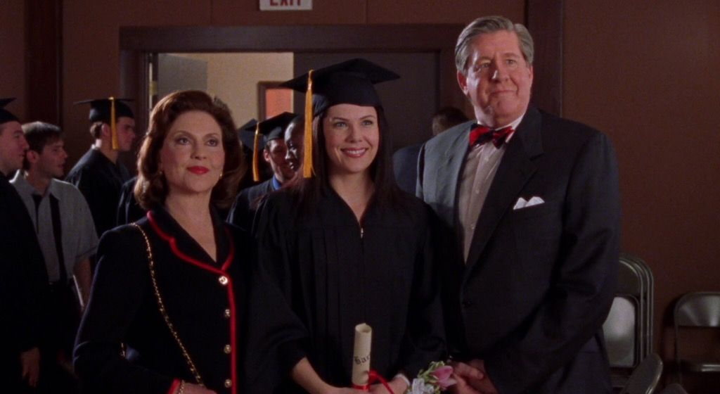 richard and emily watch lorelai graduate