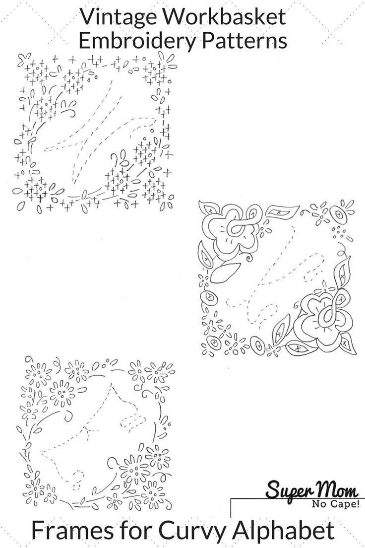 Vintage workbasket embroidery pattern frames for curvy alphabet crochet vintage workbasket embroidery pattern bankloansurffo Choice Image