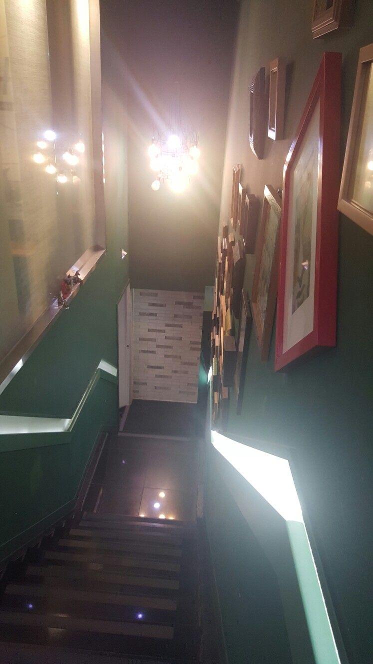 청담동미용실 샵케이  2층 올라가는길