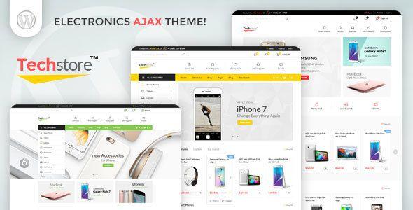 Techstore Electronics AJAX Woocommerce Theme