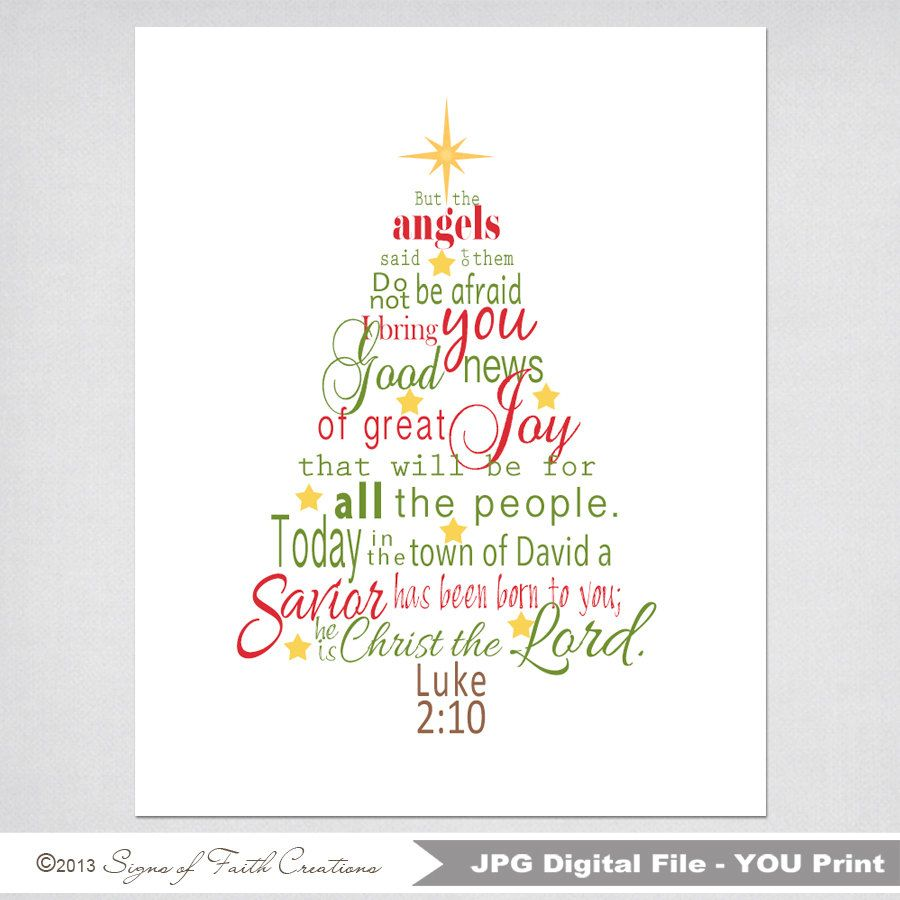 Christmas Tree Printable Scripture Art By SignsofFaithCreation