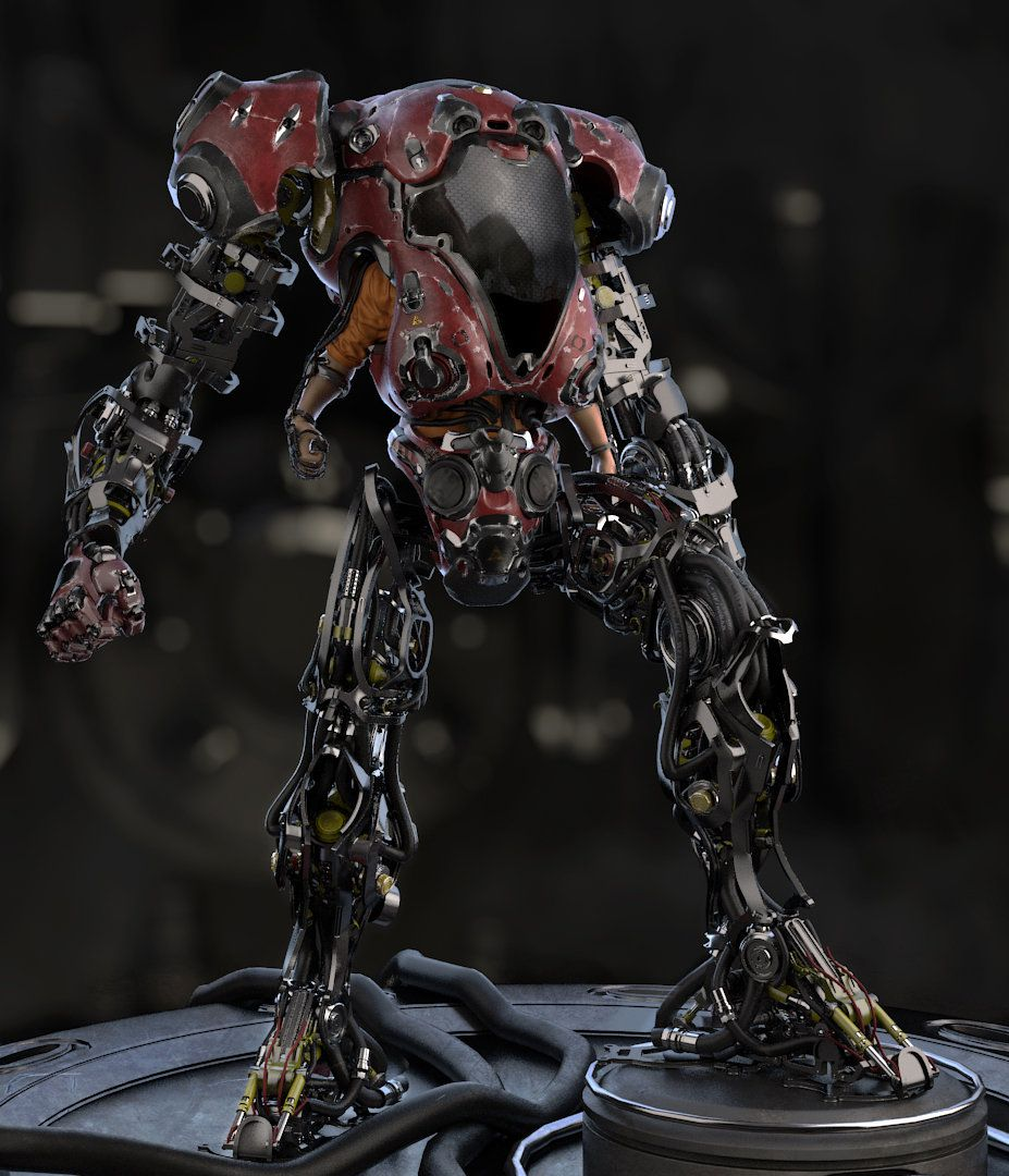 ArtStation - Exoskeleton, Alexander Panin
