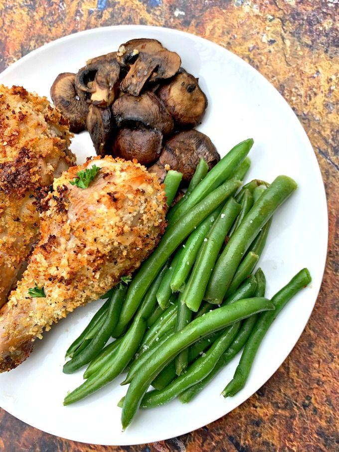 Air Fryer Panko Breaded Fried Chicken Drumsticks (Legs) is