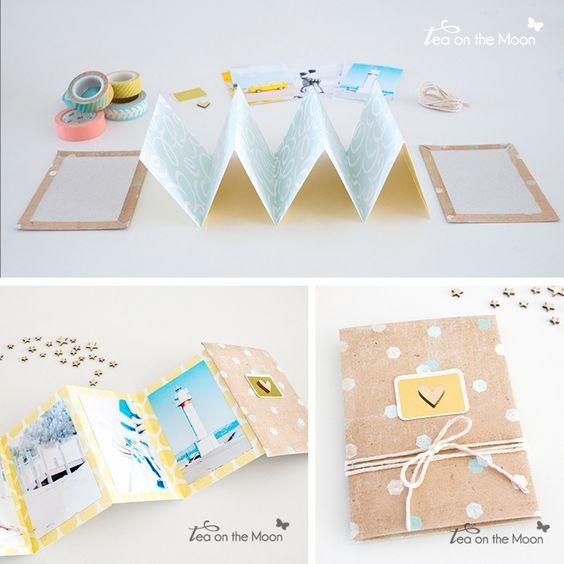 C mo hacer un mini album acordeon de fotos planner ideas - Como hacer album de fotos manualidades ...