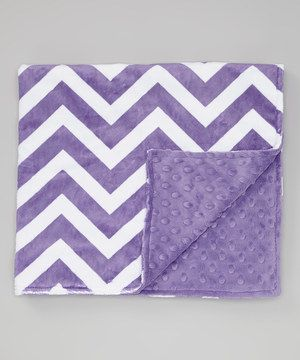 Another great find on #zulily! Lolly Gags 28'' x 32'' Jewel Zigzag Minky Stroller Blanket by Lolly Gags #zulilyfinds