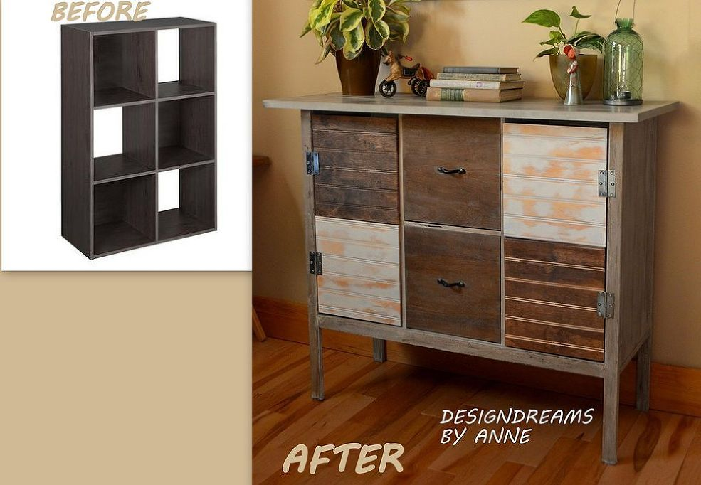 Upcycled Entryway Storage Bench Diy Furniture Cube Shelves Furniture Diy