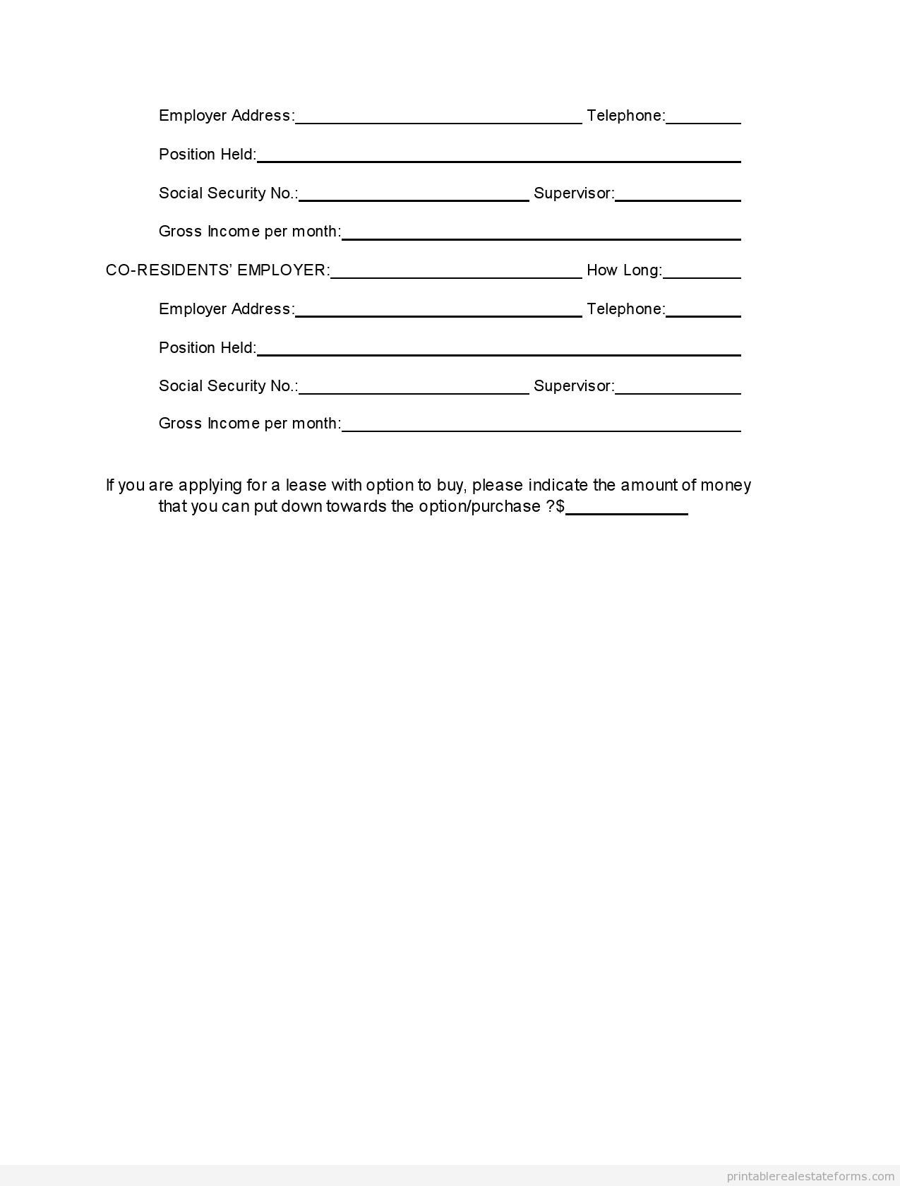 printable tenant rental application template 2015 sample forms 2015 pinterest real estate. Black Bedroom Furniture Sets. Home Design Ideas