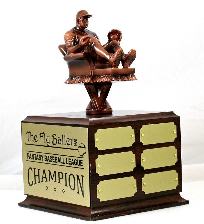 Fantasy Baseball Armchair Perpetual Trophy Fantasy Mlb Baseball Award Fantasy Baseball Baseball Award Perpetual Trophy