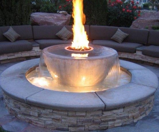 62 impresionantes al aire libre fuego tazones para a adir for Diseno de fuente de jardin al aire libre