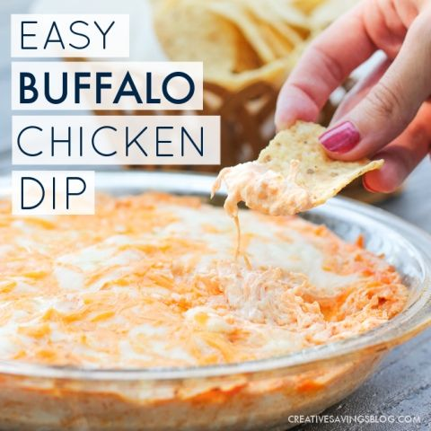 Simple Buffalo Chicken Dip 30 Minutes Only 5 Ingredients Recipe Food Buffalo Chicken Dip Recipe Recipes