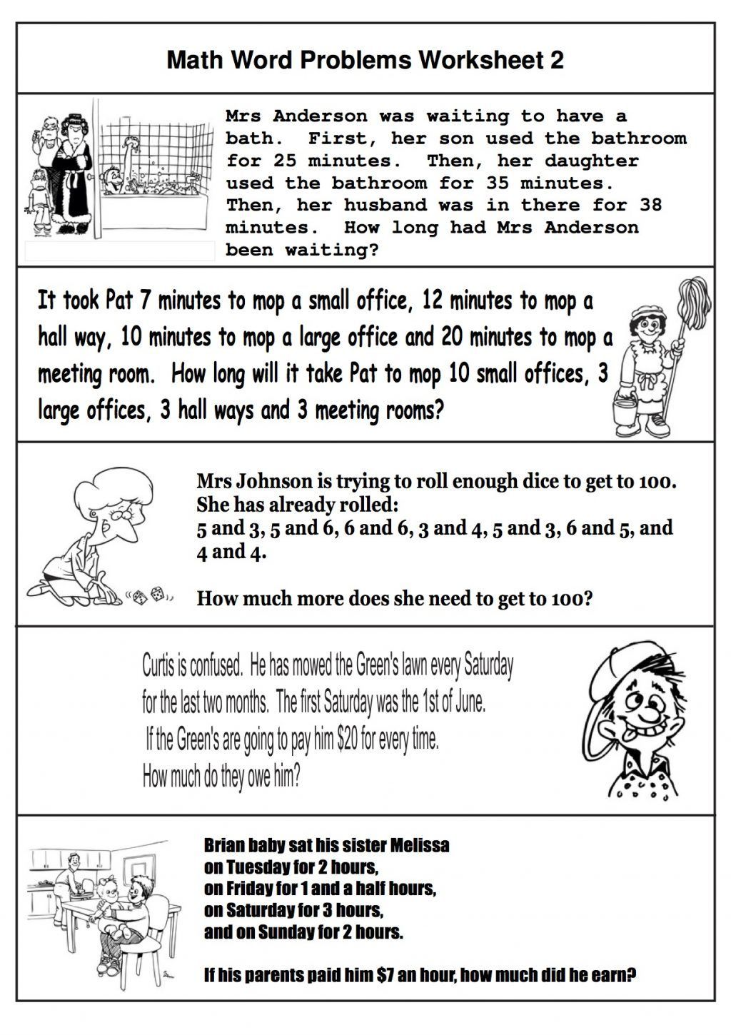 2nd Grade Math Word Problems Best Coloring Pages For