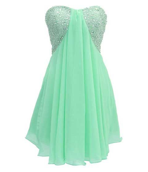 Winter Formal Dresses Short Mint Green