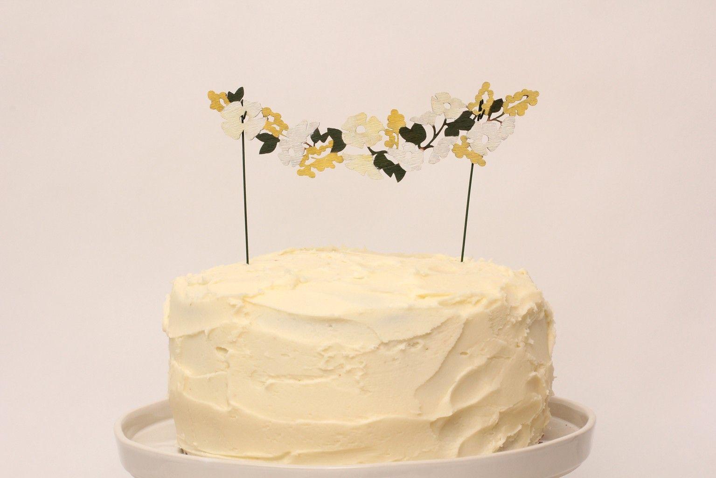 Wild flower cake topper | Wedding food | Pinterest | Flower cake ...
