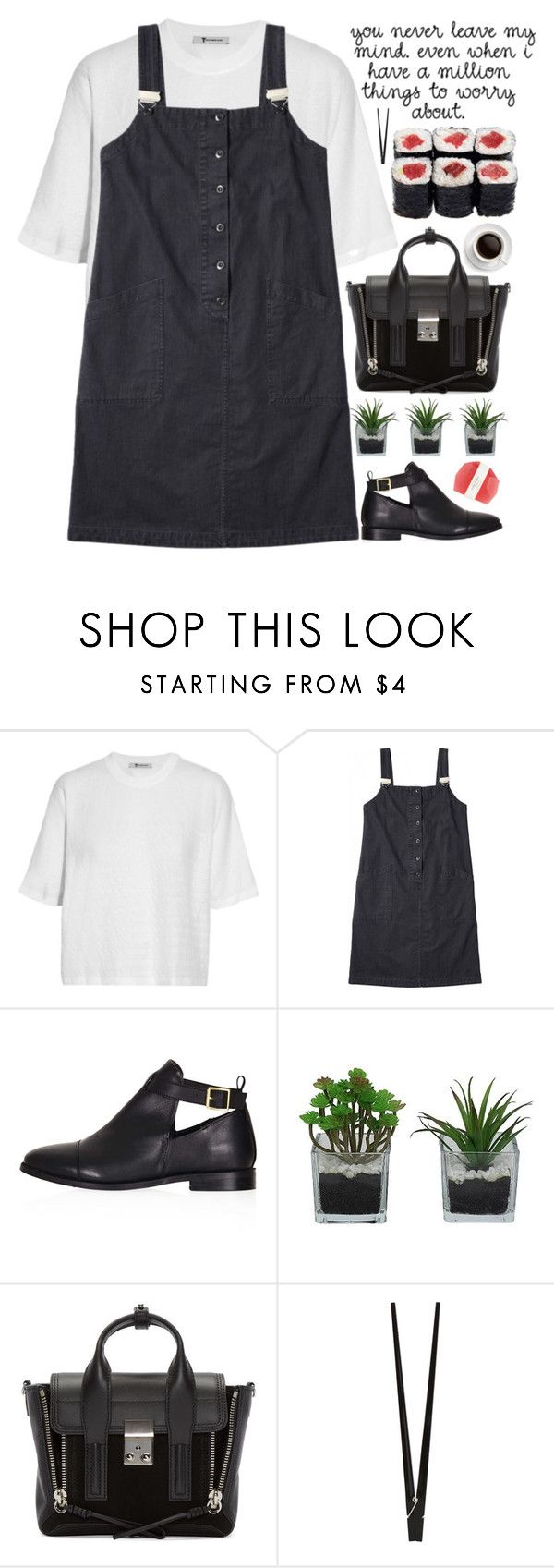 """""""never leave my mind"""" by evangeline-lily ❤ liked on Polyvore featuring T By Alexander Wang, Topshop, Threshold, 3.1 Phillip Lim, CB2, Pelle, AlexanderWang, topshop and spring2016"""