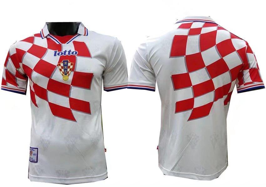 Croatia 1998 World Cup Home Men Soccer Retro Jersey Personalized Name and  Number e67f26460