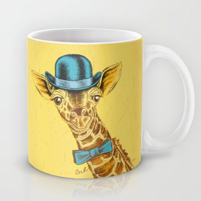 I'm too SASSY for my hat! Vintage Painted Giraffe. Mug by TheCore - $15.00