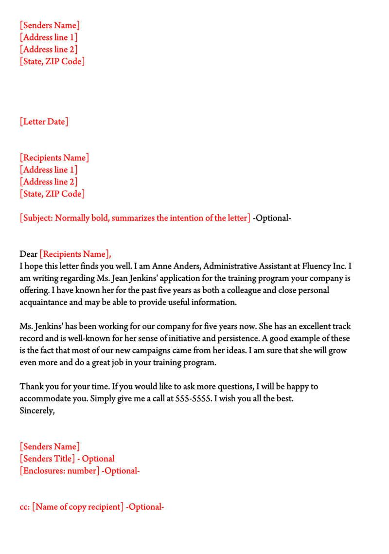 Character Reference Letter (30+ Samples For Court